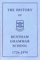 book cover: History of Bentham Grammar School