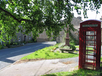 Photo of Lowgill phone box in its present location