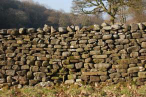 River stone wall, Lowgill