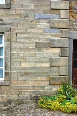Quarried ashlar stone 1777 (front walls only)